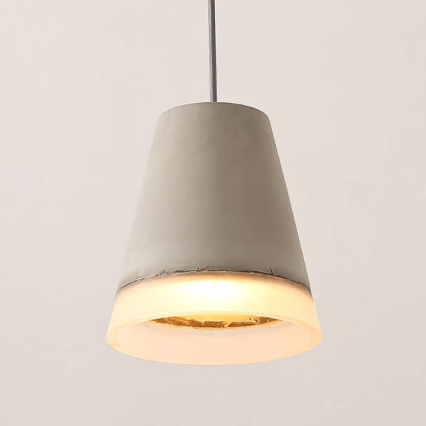 Conical Pendant Light Concrete and Resin - Valgus