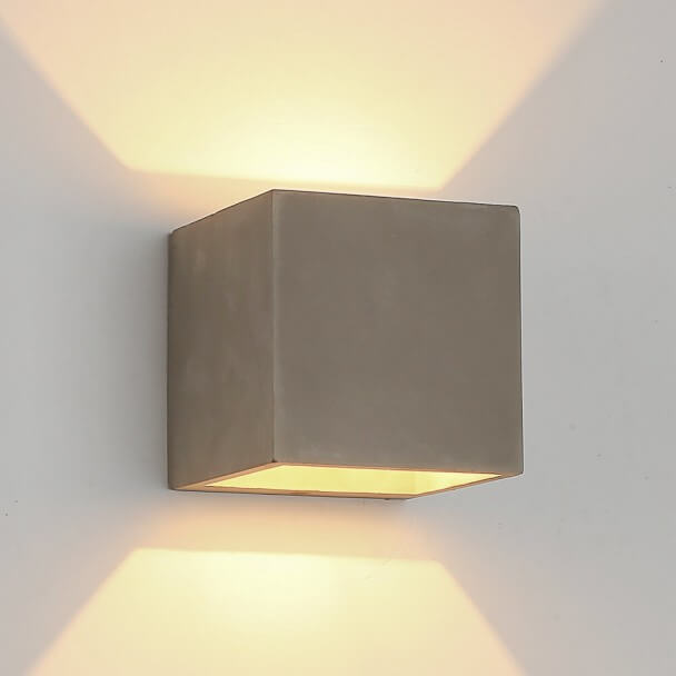 timeless design deb12 9753f Concrete LED Wall Light for outdoor and bathroom - Grey Nordic