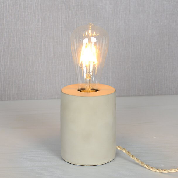Minimalist Concrete Table Lamp - Akari