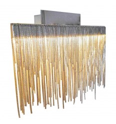 Decorative LED Wall Light Colour Satin Nickel - Phoenix