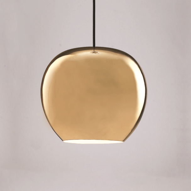 Gold Apple Shaped Pendant Light - Golden Lady