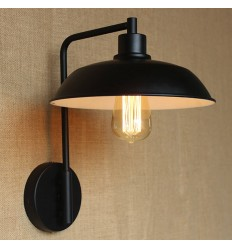 Black wall lamp Studio style - Factory