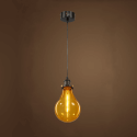 Simple hanging lamp industrial design - Amber Spark