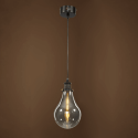 Simple hanging lamp industrial design - Smoked Spark
