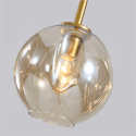 Large pendant light brass earrings with glass - Ofélia