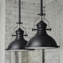Black Industrial Pendant Light - Neris