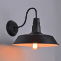 Black Industrial Wall Light - Vandel