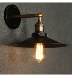 Wall light - conical black and bronze - Scopa