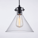 Pendant light - design conical transparent Lazio