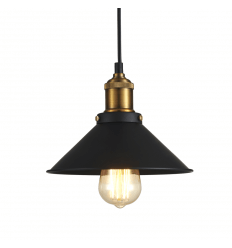 Cone Dome Pendant Light - Black Tansy