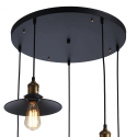 Large Pendant Light with 5 shades - Scopa
