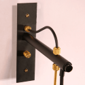 Conical Black and Gold Wall Light - Horus