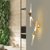 Gold and Opal Glass Wall Light - Persephone