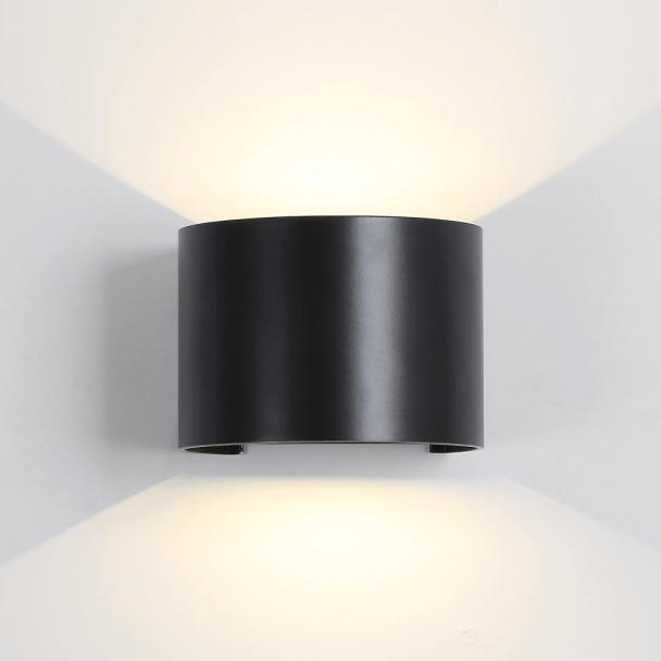 LED waterproof wall light in black - Cosmic