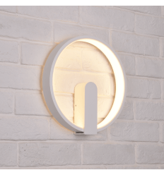 Circular White Wall Light LED - Power