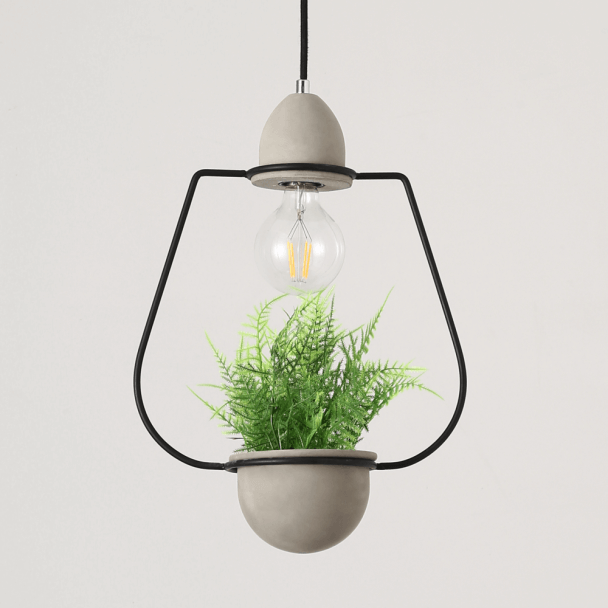 Concrete Flower Pot Lamp E27 - Summer