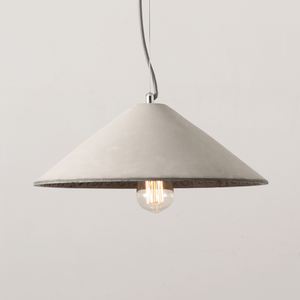 Asian hat style Concrete Pendant Light - Bangkok