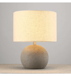 Antique Concrete Lamp with shade - Terra