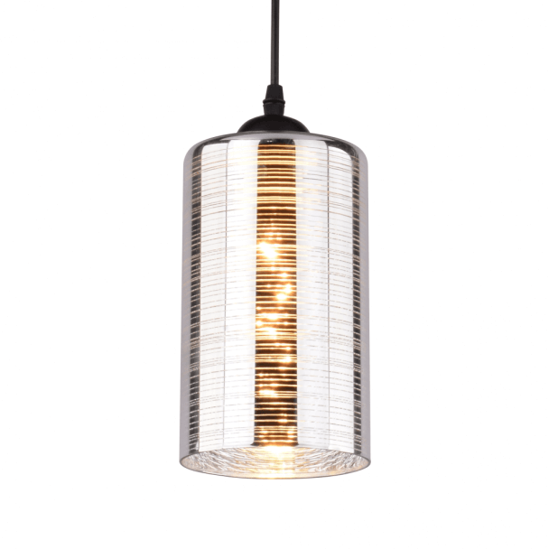 Long bell Chrome & Glass Pendant Light - Metropolis