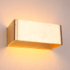 Golden Leaf LED Wall Light - Quadra 20 cm