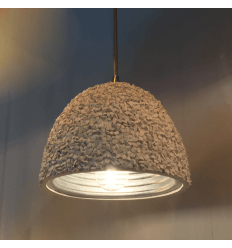 Concrete Hanging Lamp and Aluminium Shade - Levia