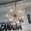 golden crystal pendant light - Eve