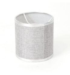Cylindrical Grey Fabric Lampshade - Jenna