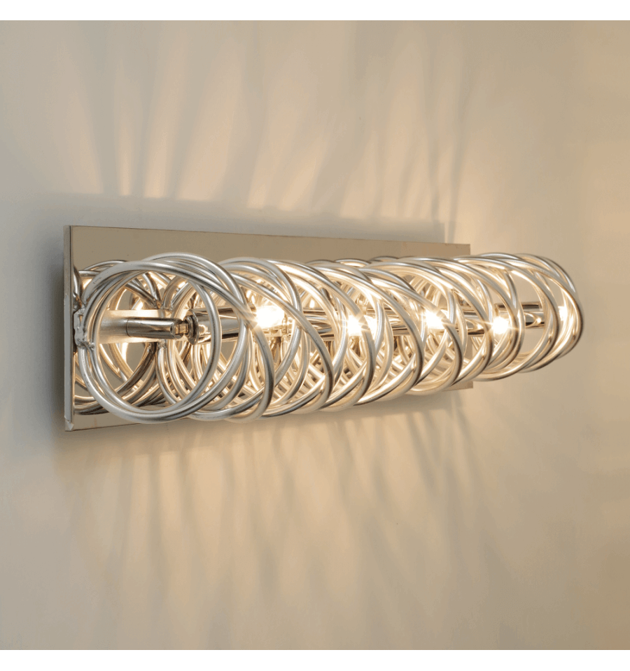 Wall ceiling light cylindrical chrome structure memphis large wall light with chrome design 62 cm memphis aloadofball Image collections
