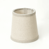 Conical Beige Fabric Lampshade - Clelia