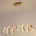 Golden twisted Pendant Light LED - Millenium