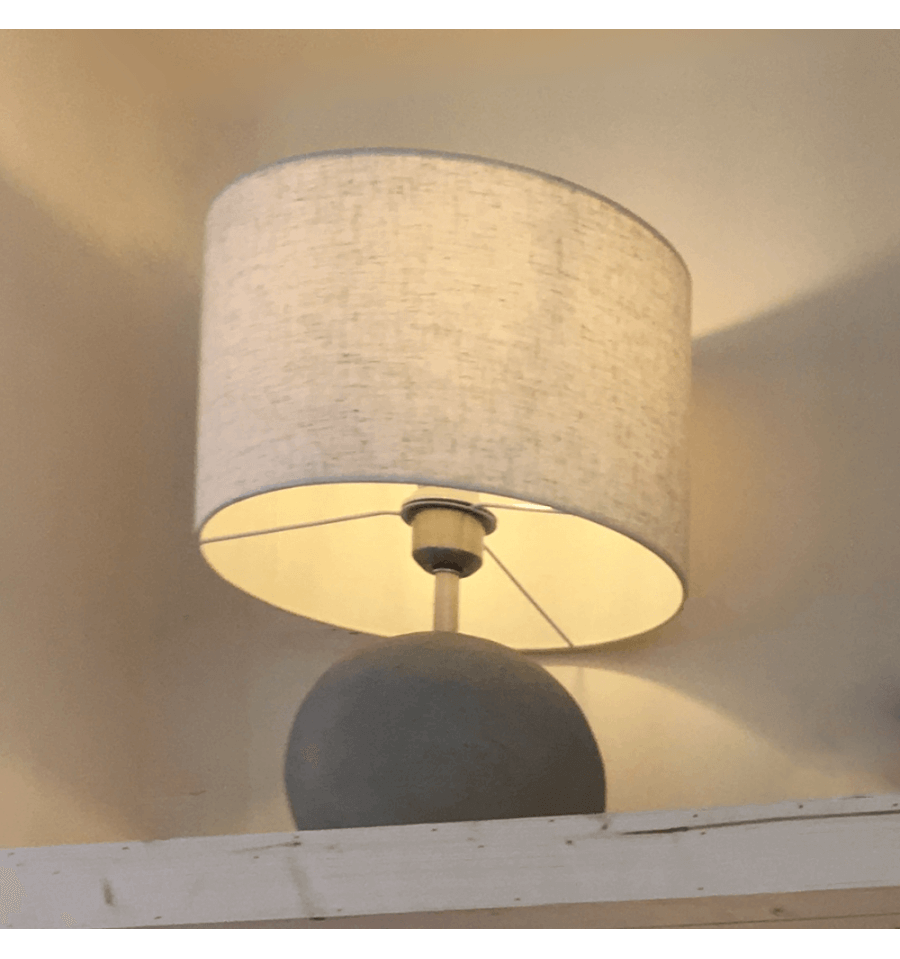 Concrete Table Lamp With Shade Terra