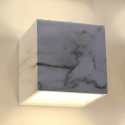 Square Concrete White Marble Wall Light - Atlas