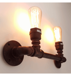 Wall Light 2 heads pipes - Jupiter
