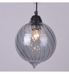 Ball shape Pendant Light Smoked glass - Flow