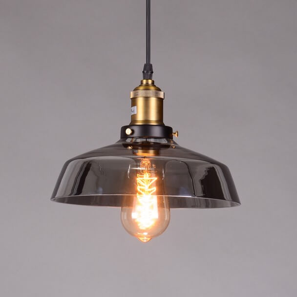 Pendant light - design transparent glass black - Zina