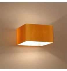 Amber Frosted Glass Wall Light - Pacifist