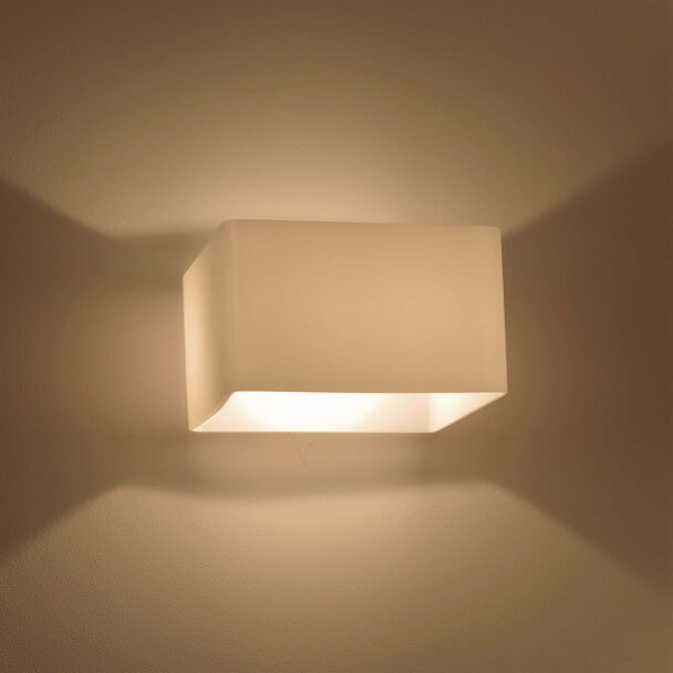 Square Frosted Glass Wall Light - Pacifist