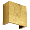 Golden plaster square wall light - Aries