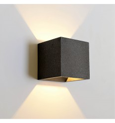 Black finish concrete wall light - Terra
