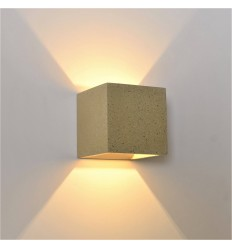 Cement light cube wall light - Terra