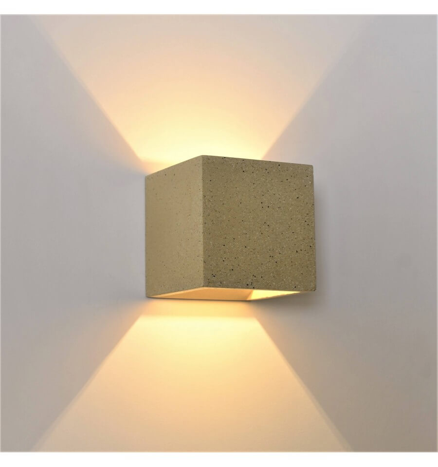 Terra cube concrete sandy wall light kosilight cement light cube wall light terra aloadofball Image collections