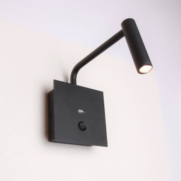 Practical and modern LED reading lamp and integrated USB port - Miami