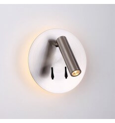 Modern double light reading lamp and switch - Bilbao