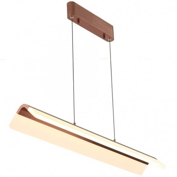 Dark copper LED pendant lamp - Argos