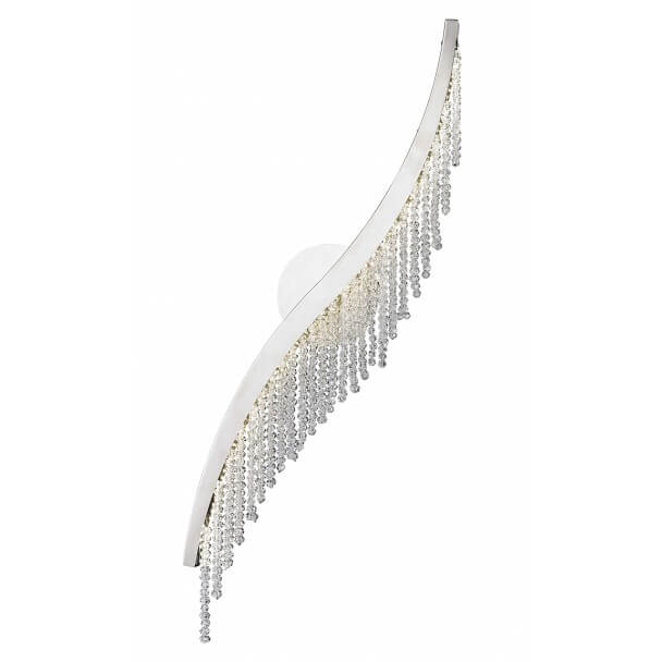 Crystal LED wall lamp chic and trendy - Amboise
