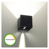 Black LED dimmable wall light - Cubic