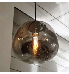 Black smoked glass Pendant Light - Echoes