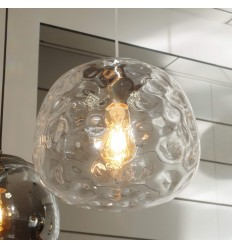 Wavy glass Pendant Light - Echoes