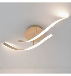 LED dynamic ceiling light brass - Lagoa