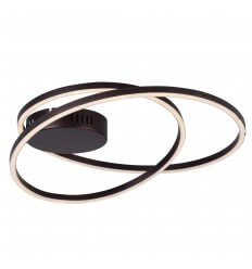 Ultra modern LED ceiling light with 2 rings - Black Méla